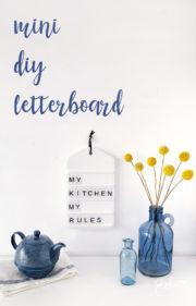 Mini DIY Letterboard für die Küche