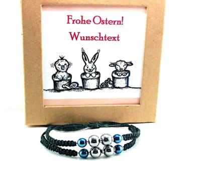 Personalisiertes Ostergeschenk - Partnerarmbänder in Geschenkbox