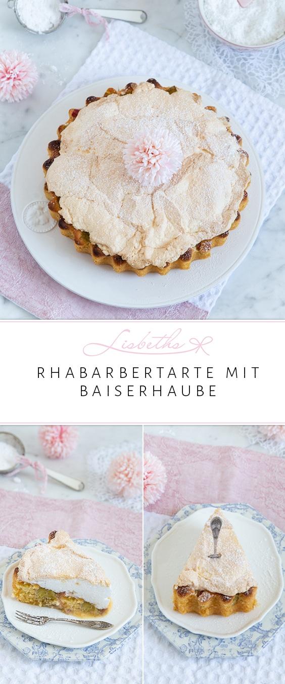 RHABARBERTARTE MIT BAISERHAUBE
