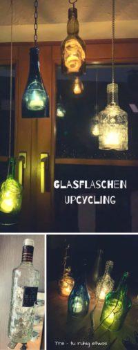 Laternen aus Glasflaschen – DIY Flaschen Upcycling