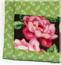 Quilt as you go Tischset mit Binding mit schönen Ecken nähen für Anfänger