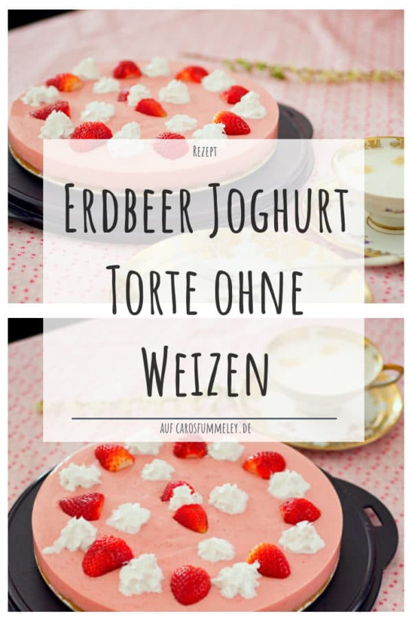 Erdbeer Joghurt Torte ohne Weizen