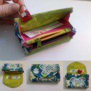 Gratis Schnittmuster: Mini Portemonnaie