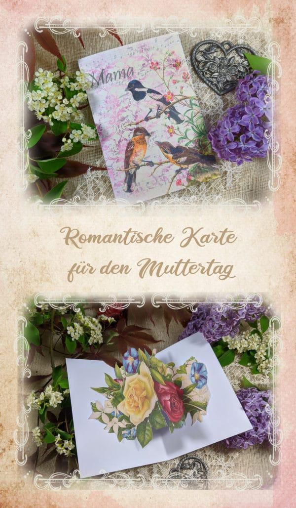 Romantische Pop-up Karte für den Muttertag