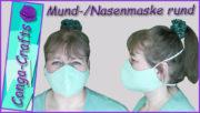 Anleitung Rundmaske nähen DIY Mund-Nasen-Maske