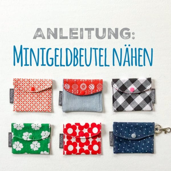 DIY-Minigeldbeutel nähen