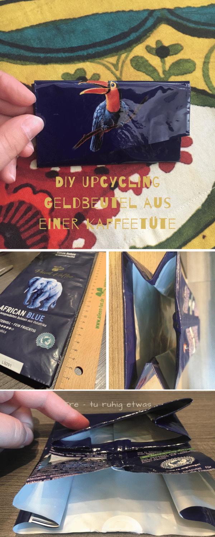 DIY Upcycling Geldbeutel aus einer Kaffeetüte