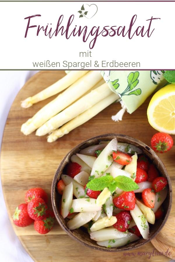 Leichter Spargel-Erdbeersalat mit frischer Minze
