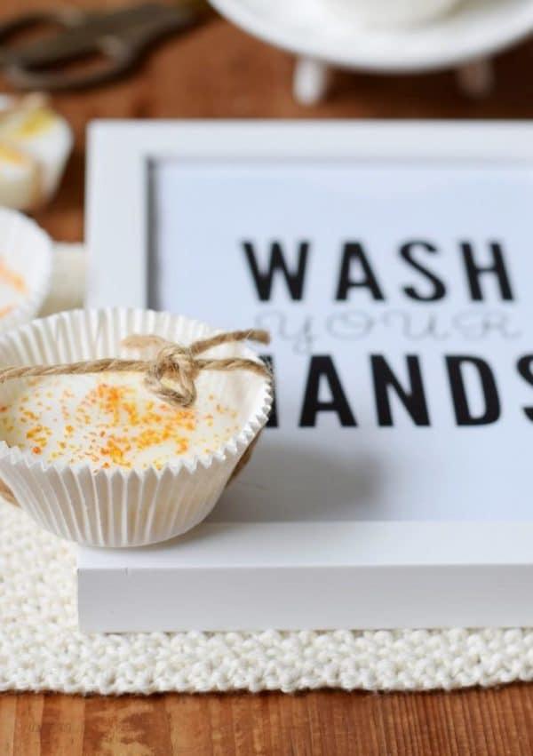 """Gute-Laune-Orangen-Seife einfach selbst machen (mit """"Wash your hands"""" Freebie!)"""
