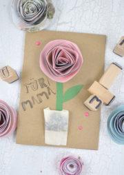 Muttertagskarte mit Blumensamen