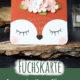 Fuchskarte - Punch Art Karte Füchsin (mit Videoanleitung)