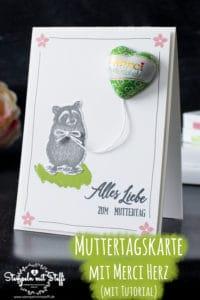 Muttertagskarte mit Merci - Herz (gemacht mit Stampin Up Special Someone und Jahr voller Grüsse)
