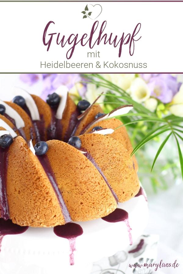 Kokos-Heidelbeer-Gugelhupf
