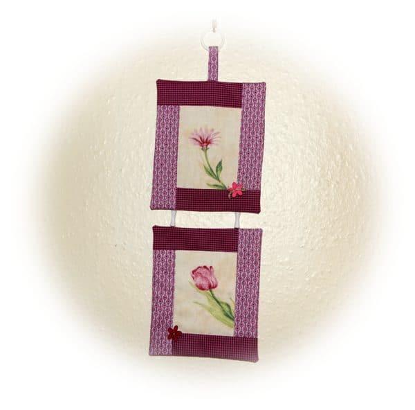Mini Wandbehang aus Stoffresten nähen für Anfänger