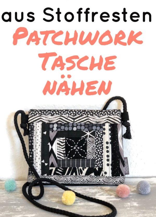 Patchworktasche aus Stoffresten nähen - Anleitung