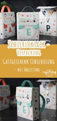 Schulranzen-Verpackung als Gastgeschenk zur Einschulung / Schuleinführung (inkl. Anleitung)