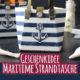 Geschenkidee für den Sommer - Maritime Strandtasche gefüllt mit sommerlichen Präsenten