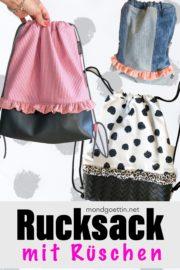 Rucksack mit Rüschen - Anleitung