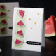 Summerfeeling Grußkarte mit Wassermelonenstückchen (inkl. Anleitung) für den Sommer