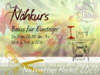 Nähkurs Einsteiger & Aufsteiger 3x Mi Nachmittags Okt 14 bis 16.30 Uhr
