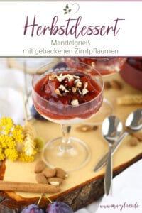 Mandelgrießbrei mit Pflaumenkompott – vegan & zuckerfrei