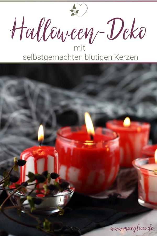 DIY Blutige Halloween-Kerzen