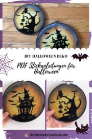 Halloween Deko selber machen – PDF Stickanleitung