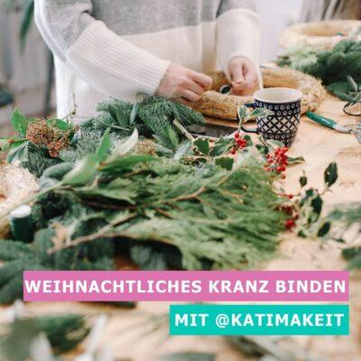 ONLINE DIY-Workshop: weihnachtlichen Kranz binden