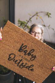 Weihnachtsgeschenk-Idee | Fußmatte mit Lettering