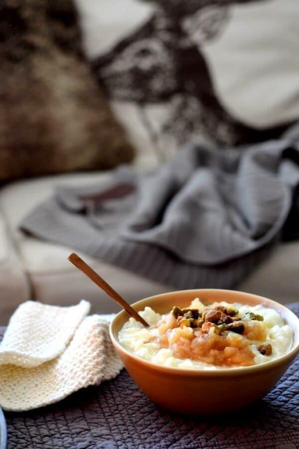 Soulfood! Wärmender Milchreis mit Apfel-Birnen-Kompott