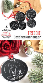 Freebie: Geschenkanhänger für Weihnachten