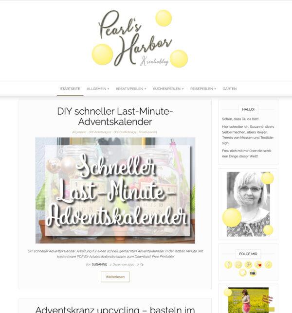 Pearl's Harbor — Kreativ- und Lifestyleblog aus der Pfalz mit vielen Anleitungen zu DIYs rund ums Plotten und Nähen, Tipps zu Städtereisen mit Kindern, leckeren Rezepten und den schönen Dingen dieser Welt
