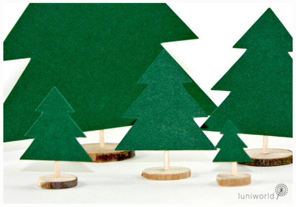 Kleine Tannenbäumchen aus Papier