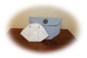 Tasche für saubere FFP2 Masken  falten und mit nur 4 Nähten nähen , Schnittmuster gratis