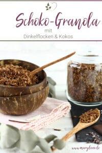 Schoko-Kokos-Granola mit Dinkelflocken