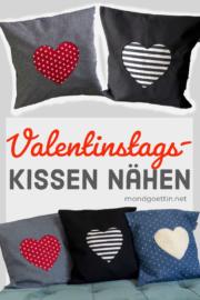 DIY - Herzkissen für Valentinstag nähen