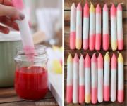 Kerzen färben im Dip-Dye-Trend - einfaches Gute Laune DIY!