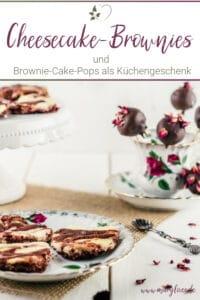 Käsekuchen-Brownies in Herzform & Brownie-Cheesecake-Pops