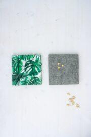 Upcycling - Pinnwand aus Stoffresten und Filz