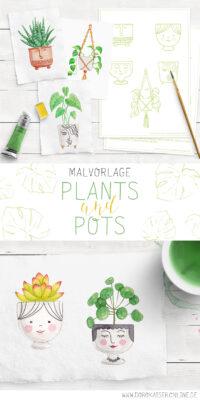 Pflanzen Malen: PLANTS & POTS