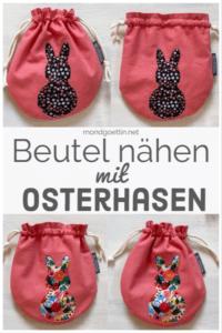 DIY - kleine Beutel mit Osterhasen nähen