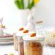 In der Osterbäckerei - saftiger Möhrenkuchen im Glas