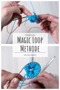 Magic Loop Technik beim Stricken