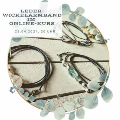 Mache dein Wickelarmband aus Leder und Edelsteinen (Onlinekurs)