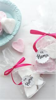 Geschenkidee zum Muttertag - Knetseife Herzen Geschenkidee zum Muttertag