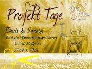 Nähkurs Projekt TShirts & Sweatys  2x So  11 bis 16.30 Uhr August
