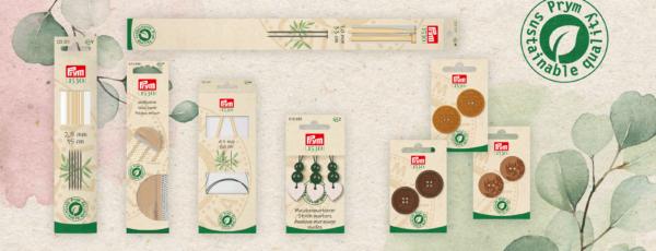 Prym bringt nachhaltige Produkte in plastikfreien Verpackungen auf den Markt!