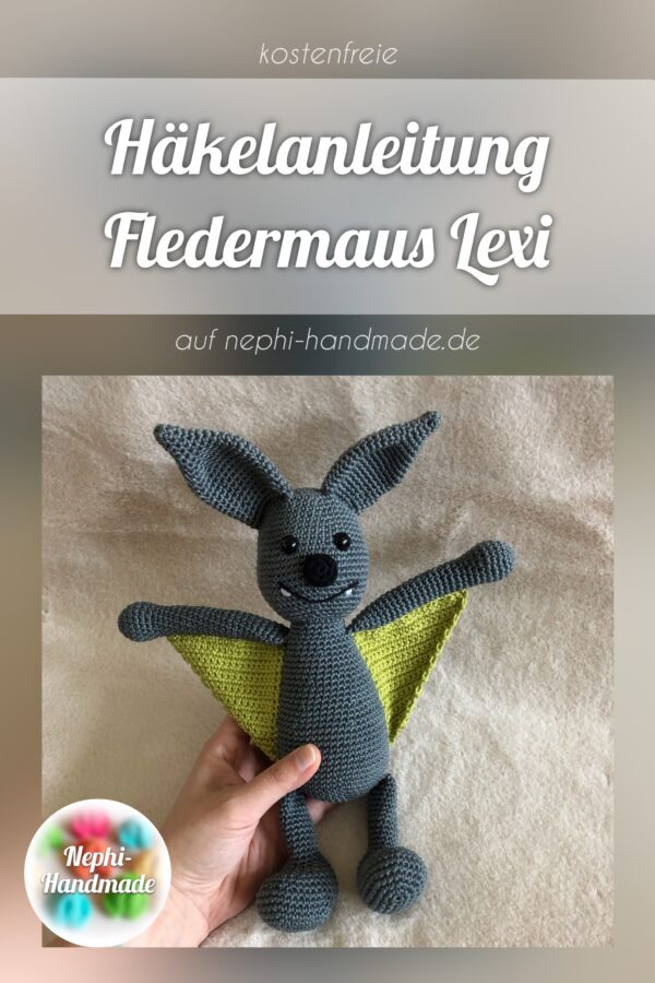 Häkelanleitung Fledermaus Lexi