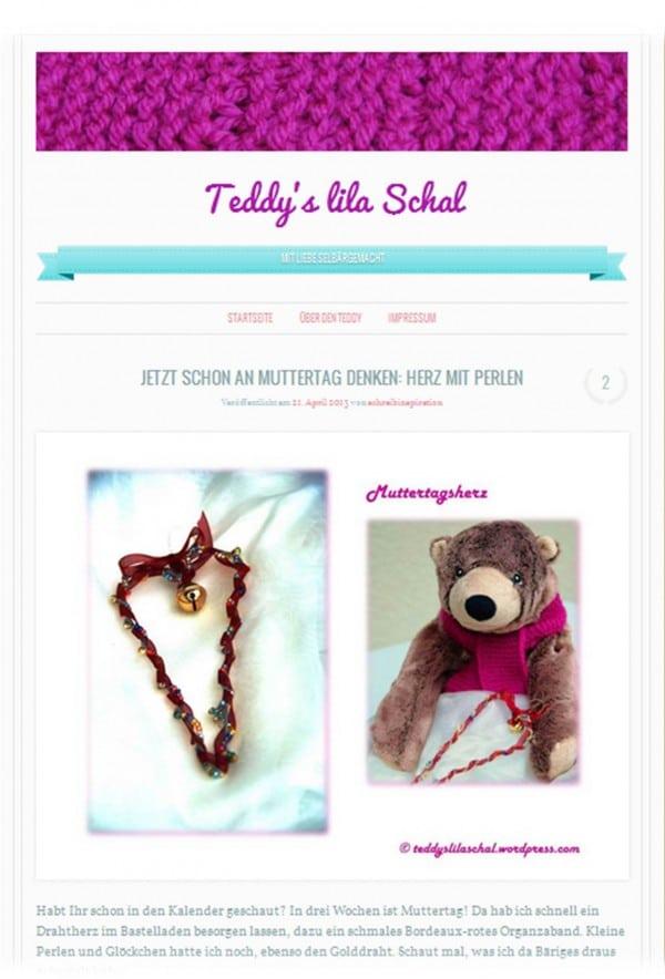 Teddy's lila Schal